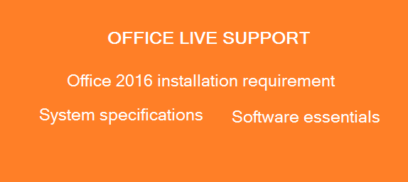 Office installation system requirements