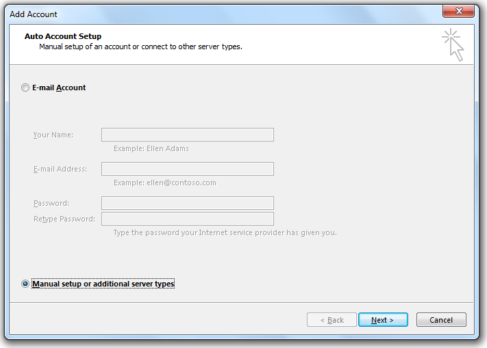 gmail settings for outlook 2010