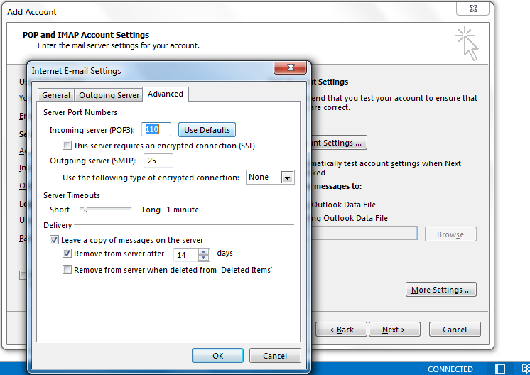 How to configure the gmail settings for outlook - Outlook express port settings ...